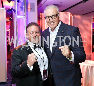 Raul Fernandez, Boxing Legend Gerry Cooney. Photo by Tony Powell. 2018 Fight Night. Washington Hilton. November 1, 2018