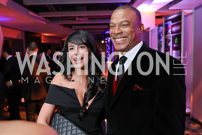 Sherie Gabriel, John Booty. Photo by Tony Powell. 2018 Fight Night. Washington Hilton. November 1, 2018