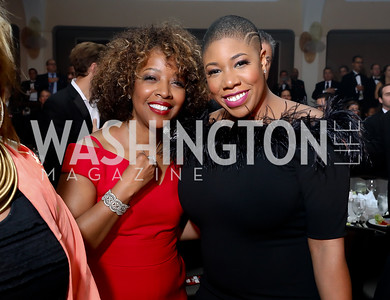 Gina Adams, Symone Sanders. Photo by Tony Powell. 2018 Fight Night. Washington Hilton. November 1, 2018