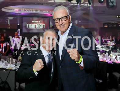 "Boxing Legends Gerry Cooney and Ray ""Boom Boom"" Mancini. Photo by Tony Powell. 2018 Fight Night. Washington Hilton. November 1, 2018"