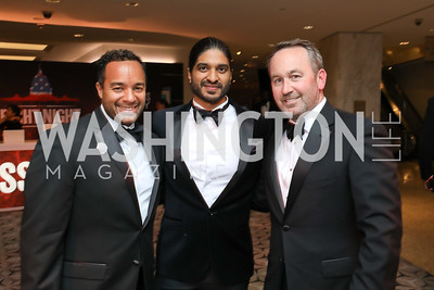 Brian Kenner, Vinoda Basnayake, Chris Donatelli. Photo by Tony Powell. 2018 Fight Night. Washington Hilton. November 1, 2018