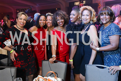 Guests of FedEx's GIna Adams. Photo by Tony Powell. 2018 Fight Night. Washington Hilton. November 1, 2018