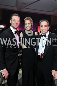Max Scherzer, Fight for Children CEO Keith Gordon, Erica Scherzer. Photo by Tony Powell. 2018 Fight Night. Washington Hilton. November 1, 2018