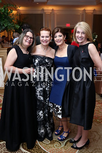 Stacey Richardson, Linda Vickers, Haleh Niroo, Lynn Sellers. Photo by Tony Powell. 2018 Heart Ball. Mandarin Oriental. February 24, 2018