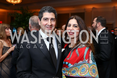 Zayd Eldadah and Assil Saleh. Photo by Tony Powell. 2018 Heart Ball. Mandarin Oriental. February 24, 2018