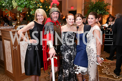Lynn Sellers, Marcus Conspicuous, Linda Vickers, Haleh Niroo, Soula Antoniou. Photo by Tony Powell. 2018 Heart Ball. Mandarin Oriental. February 24, 2018