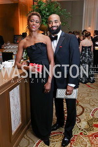 Roquell Wyche and Stephen Narcisse. Photo by Tony Powell. 2018 Heart Ball. Mandarin Oriental. February 24, 2018