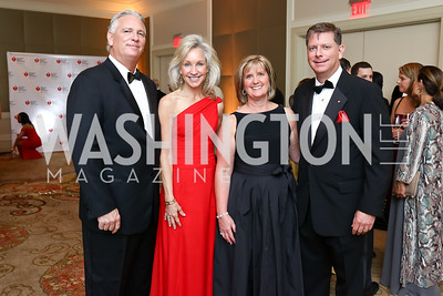 Tim Morris, Angie Marriott, Kristin Bonacci and Dr. Christopher Bonacci. Photo by Tony Powell. 2018 Heart Ball. Mandarin Oriental. February 24, 2018