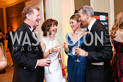 Peter and Cathie Monge, Marissa and Dr. Vinod Thourani. Photo by Tony Powell. 2018 Heart Ball. Mandarin Oriental. February 24, 2018