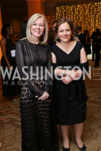 DeAnne Marshall, Leslie Kiernan. Photo by Tony Powell. 2018 Heroes Gala. Mandarin Oriental. March 3, 2018