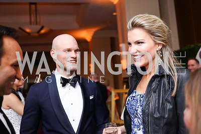 Luke and Nicolina Miller. Photo by Tony Powell. 2018 Heroes Gala. Mandarin Oriental. March 3, 2018