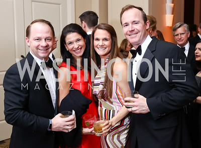 Andrew Howard, Christine DuFour, Rebecca Howard, Alex DuFour. Photo by Tony Powell. 2018 Heroes Gala. Mandarin Oriental. March 3, 2018