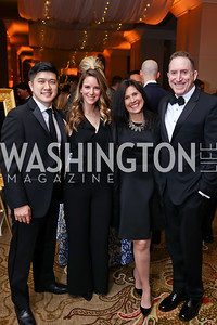 Justin and Carolyn Fung, Laurie Strongin and Allen Goldberg. Photo by Tony Powell. 2018 Heroes Gala. Mandarin Oriental. March 3, 2018