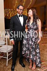 Ajoy and Sunitha Mathew. Photo by Tony Powell. 2018 Heroes Gala. Mandarin Oriental. March 3, 2018