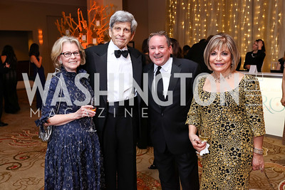 Diana and Stephen Goldberg, Daren Thomas, Annie Totah. Photo by Tony Powell. 2018 Heroes Gala. Mandarin Oriental. March 3, 2018