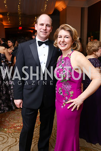 Chris and Caroline King. Photo by Tony Powell. 2018 Heroes Gala. Mandarin Oriental. March 3, 2018