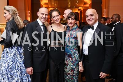 Michael and Meredith Cymerman, Elizabeth and David Carmen. Photo by Tony Powell. 2018 Heroes Gala. Mandarin Oriental. March 3, 2018