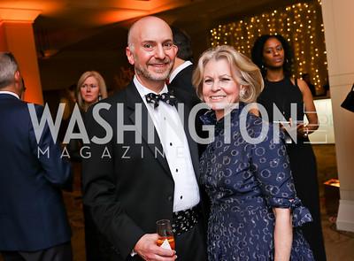 Jeff Dome, Diana Goldberg. Photo by Tony Powell. 2018 Heroes Gala. Mandarin Oriental. March 3, 2018