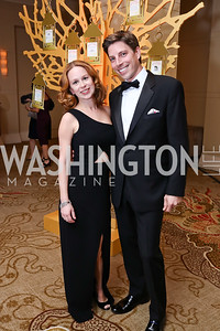 Rebecca Ballard and John Means. Photo by Tony Powell. 2018 Heroes Gala. Mandarin Oriental. March 3, 2018