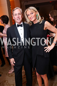 Tim Messier, Amy Porter Stroh. Photo by Tony Powell. 2018 Heroes Gala. Mandarin Oriental. March 3, 2018