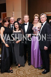 Erin Egan, Dr. Roger Packer, Christine and Jonathan Terrell, Elizabeth Kaufman, Ben Turner. Photo by Tony Powell. 2018 Heroes Gala. Mandarin Oriental. March 3, 2018