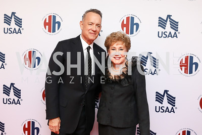Tom Hanks, Elizabeth Dole. Photo by Tony Powell. 2018 Heroes and History Makers. Washington Hilton. November 29, 2018