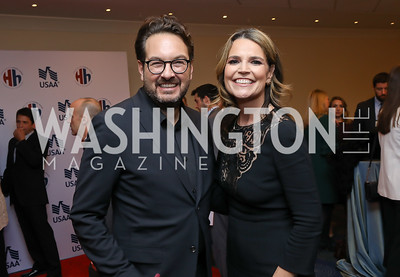 Marc Adelman, Savannah Guthrie. Photo by Tony Powell. 2018 Heroes and History Makers. Washington Hilton. November 29, 2018