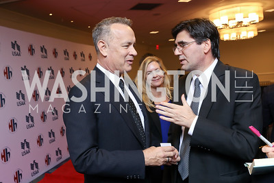 Tom Hanks, Bulgaria Amb. Tihomir Stoytchev. Photo by Tony Powell. 2018 Heroes and History Makers. Washington Hilton. November 29, 2018