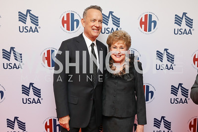 Tom Hanks, Elizabeth Dole, Elizabeth Dole. Photo by Tony Powell. 2018 Heroes and History Makers. Washington Hilton. November 29, 2018