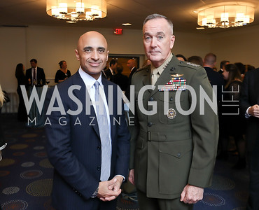 UAE Amb. Yousef Al Otaiba, Chairman of the Joint Chiefs of Staff Gen. Joseph Dunford. Photo by Tony Powell. 2018 Heroes and History Makers. Washington Hilton. November 29, 2018