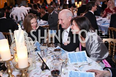 Emily Lenzner, Bruce Charendoff, Sally Rosenberg. Photo by Tony Powell. 2018 Imagination Stage Gala. Embassy of Italy. December 7, 2018