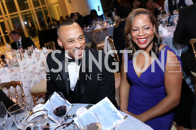 Dwight and LaShelle Franklin. Photo by Tony Powell. 2018 Imagination Stage Gala. Embassy of Italy. December 7, 2018