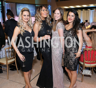 Sharmin Davoodian, Azadeh Ahmadi, Clair Marie Wholean, Bita Talebi. Photo by Tony Powell. 2018 Imagination Stage Gala. Embassy of Italy. December 7, 2018