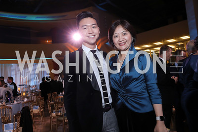 Andrew Peng, MD Delegate-Elect Lily Qi. Photo by Tony Powell. 2018 Imagination Stage Gala. Embassy of Italy. December 7, 2018