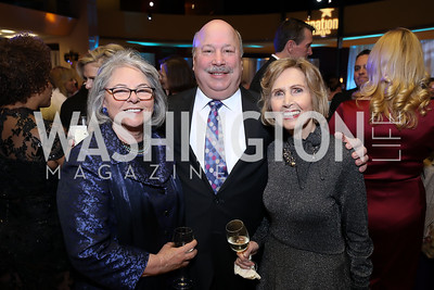 Linda Parisi, JJ Finkelstein, Connie Morella. Photo by Tony Powell. 2018 Imagination Stage Gala. Embassy of Italy. December 7, 2018