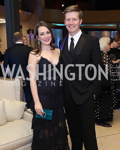 Sara and Chris Lange. Photo by Tony Powell. 2018 Imagination Stage Gala. Embassy of Italy. December 7, 2018