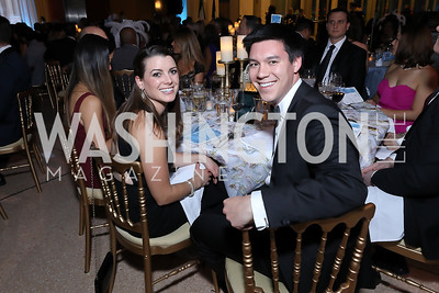 Nicole Lacey, Alex Caffrey. Photo by Tony Powell. 2018 Imagination Stage Gala. Embassy of Italy. December 7, 2018