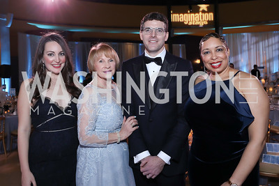 Sara Lange, Founder Bonnie Fogel, Chris Taylor, Kim Barnette. Photo by Tony Powell. 2018 Imagination Stage Gala. Embassy of Italy. December 7, 2018