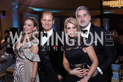 Kristin and John Cecchi, Tara and Jarrod Patten. Photo by Tony Powell. 2018 Imagination Stage Gala. Embassy of Italy. December 7, 2018