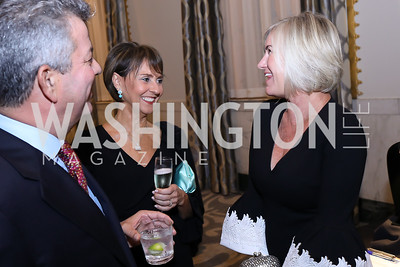 Charles and Beth Kohlhoss, Staci Capuano. Photo by Tony Powell. 2018 Innocents at Risk. Mayflower Hotel. September 18, 2018