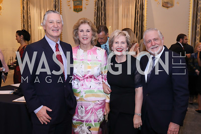 Peru Amb. Carlos Pareja and Consuelo Pareja, Lisa Barry and Jim Gale. Photo by Tony Powell. 2018 Innocents at Risk. Mayflower Hotel. September 18, 2018