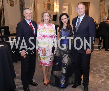 Peru Ambasador Carlos Pareja and Consuelo Pareja, Ivonn Szeverenyi and Hungary Amb. Laszlo Szabo. Photo by Tony Powell. 2018 Innocents at Risk. Mayflower Hotel. September 18, 2018