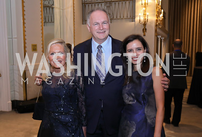 Deborah Sigmund, Hungary Amb. Laszlo Szabo and Ivonn Szeverenyi. Photo by Tony Powell. 2018 Innocents at Risk. Mayflower Hotel. September 18, 2018
