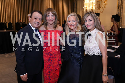 Omar Ghorbal, Barbara Harrison, Deborah Sigmund, Yasmine Askalani. Photo by Tony Powell. 2018 Innocents at Risk. Mayflower Hotel. September 18, 2018