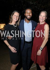 "Reg Stettinius, Josh Norman, Katie Gewirz. Photo by Tony Powell.  2018 ""Joe's Kids"" Fundraiser. October 15, 2018"