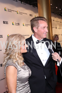 Cheryl and Sen. Jeff Flake. Photo by Tony Powell. 2018 Kennedy Center Honors. December 2, 2018