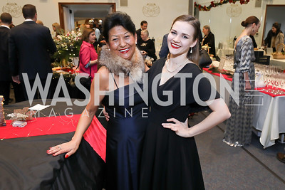 Pamela Gonzalez deCordoba, Alexandra Bare. Photo by Tony Powell. Kirov Ballet Reception and Performance. December 14, 2019
