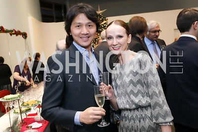 Runqiao Du, Irina Wunder. Photo by Tony Powell. Kirov Ballet Reception and Performance. December 14, 2019