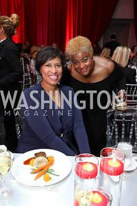 Muriel Bowser, Beverly Perry. Photo by Tony Powell. 2018 Knock Out Abuse. Ritz Carlton. November 1, 2018