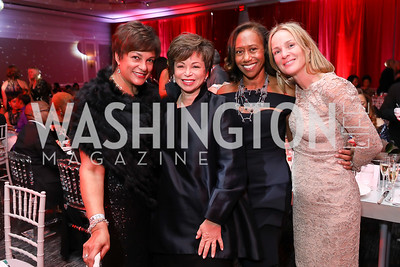 Debbi Jarvis, Valerie Jarrett, Kelly Dibble, Kathleen Biden. Photo by Tony Powell. 2018 Knock Out Abuse. Ritz Carlton. November 1, 2018
